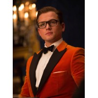 Kingsman The Golden Circle Eggsy Orange Tuxedo
