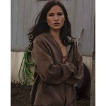Yellowstone Kelsey Asbille Brown Hooded Jacket