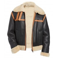 B-3 Bomber Reversible Genuine Shearling Leather Jacket