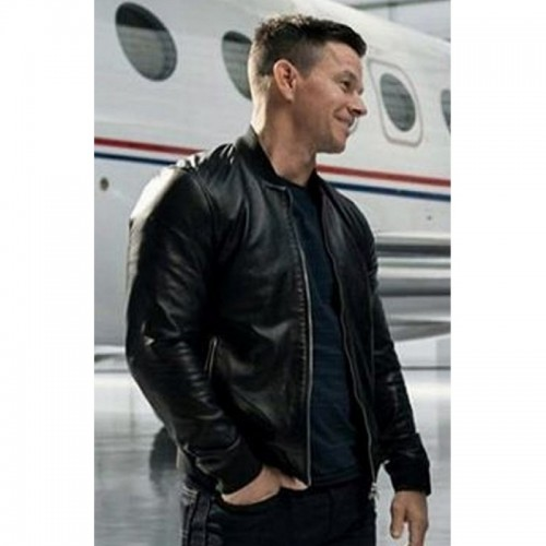Infinite Mark Wahlberg Black Leather Jacket
