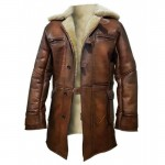 Men's Genuine Shearling Winter Coat