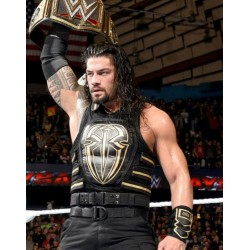 Roman Reigns Black Cotton Vest
