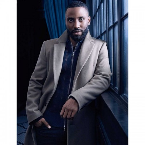 Tenet John David Washington Wool Coat