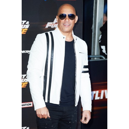 Vin Diesel Fast & Furious Live White Leather Jacket