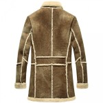 Men Designer Fur Shearling Sheepskin Coat