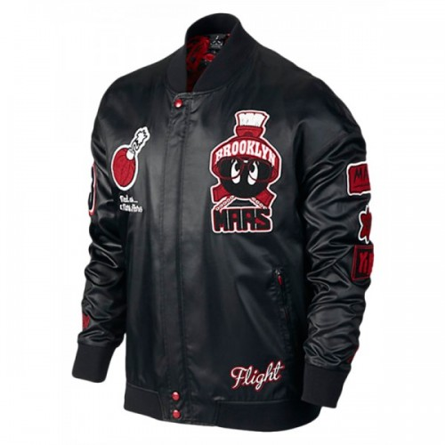 Air Jordan Marvin The Martian Mens Leather Jacket