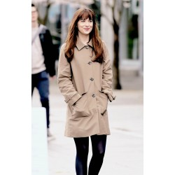 Anastasia Steele Brown Cotton Coat For Women