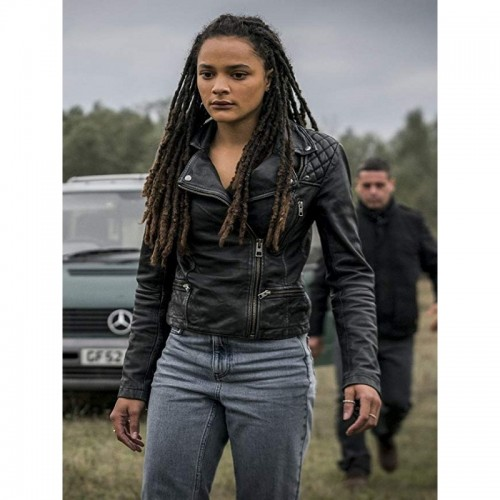 Hellboy Movie Sasha Lane Leather Jacket