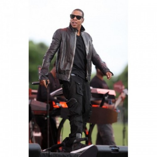 Jay Z Rick Owens Black Leather Jacket