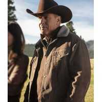 Kevin Costner Yellowstone John Dutton Brown Corduroy Jacket