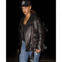 RIHANNA MOTORCYCLE PURE LEATHER JACKET