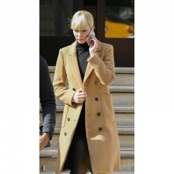 Red Sparrow Jennifer Lawrence Brown Coat