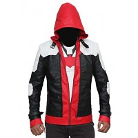 Bat Logo Knight Red Hood Jacket with Vest