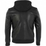 Black Genuine Leather Shearling Jacket
