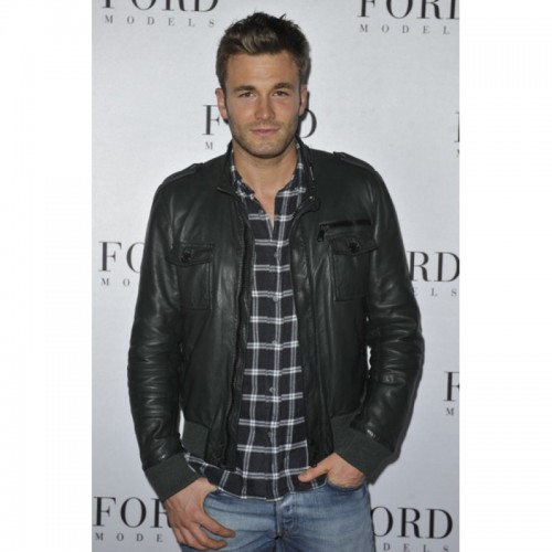 Brad Kroenig Black Stylish Leather Jacket
