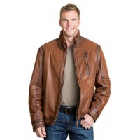 Brad Kroenig Brown Stylish Leather Jacket