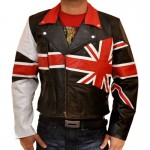 British Flag Stylish Leather Jacket