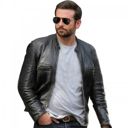 Burnt Bradley Cooper (Adam Jones) Black Biker Jacket