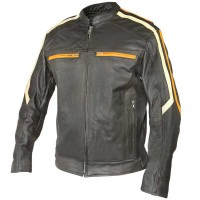 Classic Cafe Racer Motorbike Men Leather Jacket