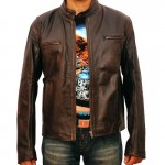 Contraband Mark Wahlberg Distressed Brown/black Leather Jacket