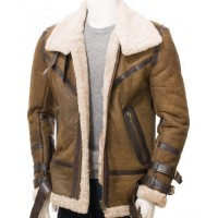 Men Shearling Sheepskin Leather Jacket