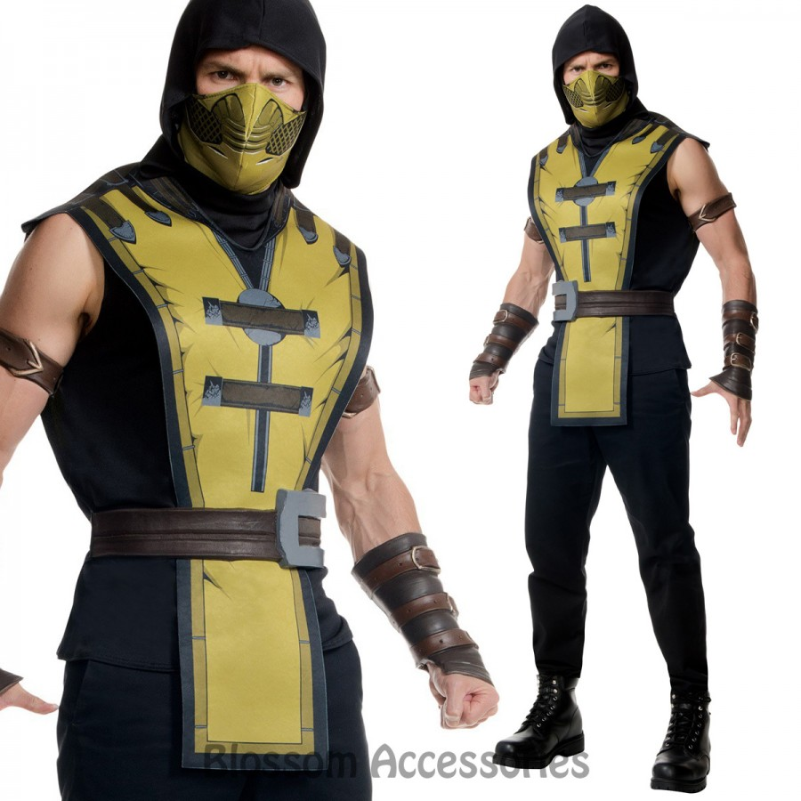 Rubie S Mortal Kombat X Scorpion Men S Jacket Glamour Jackets