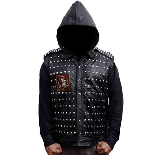 Watch Dogs 2 Dedsec Wrench Studded Leather Vest