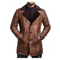 Cinnamon Fur Trench Leather Coat