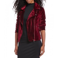 Women Maroon Leather Jacket