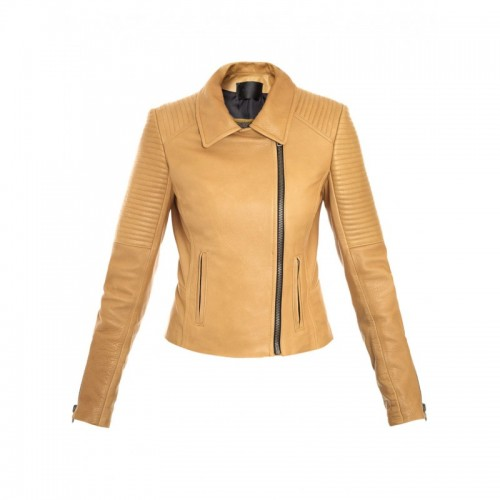 Slimfit Side Zipper Women Leather Jacket