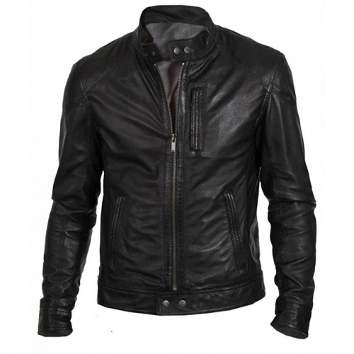 Black Men Plane Leather Jacket