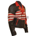 American Flag Vintage Leather Jacket