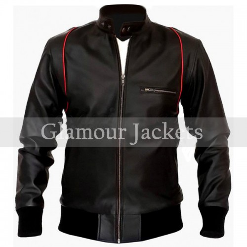 Black SlimFit Biker Style Leather Jacket