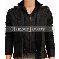 CLASSIC RIDER NEW MEN'S DOUBLE ZIPPER MOTORCYCLE JACKET