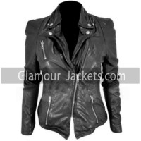 Cheryl Cole Biker Muubaa Leather Jacket