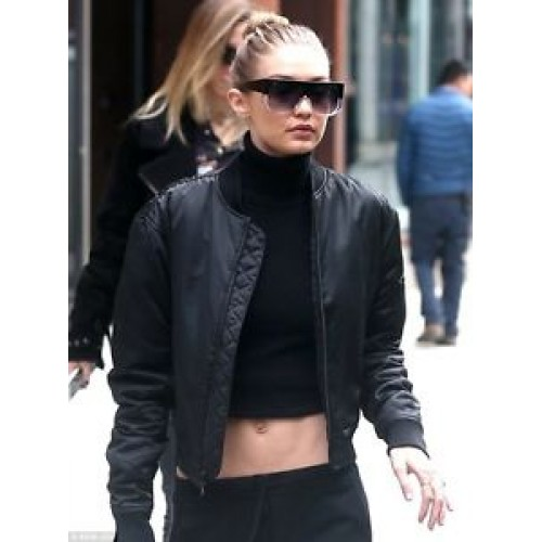 GIGI HADID SLIM FIT BIKER MOTORCYCLE SOFT LEATHER JACKET