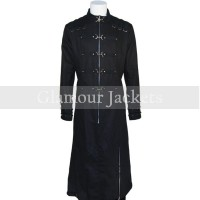 Hell Raiser Black Leather Coat