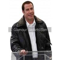 Airport Burbank John Travolta Leather Jacket
