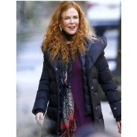 The Undoing Nicole Kidman Puffer Black Coat