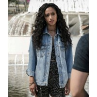 All American Olivia Baker Blue Denim Jacket