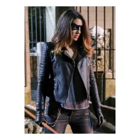 Arrow Season 6 Juliana Harkavy Black Jacket