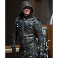 Oliver Queen Arrow S05 Jacket