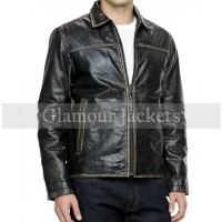 Black leather Moto Jacket On Sale
