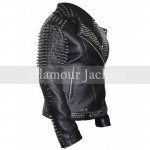 Britney Spears Studded Black Leather Jacket