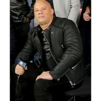 F8 The Fate of the Furious Vin Diesel Black Leather Jacket