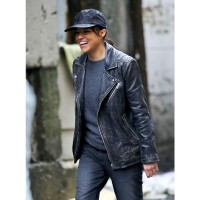 Michelle Rodriguez Distressed Leather Jacket