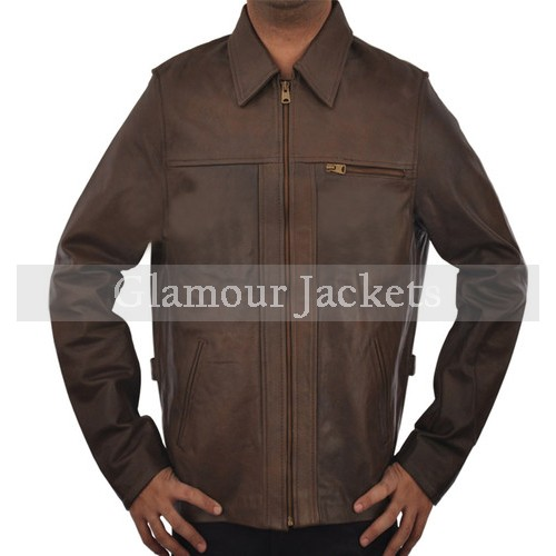 Inception Cobb Arthur Leonardo Vintage Brown Men's Fine Leather Jacket.