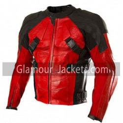 DeadPool Motorbike Leather Jacket For Men