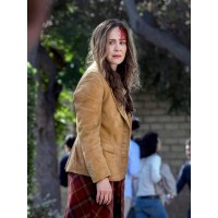 Jessica Bird Box Brown Suede Blazer