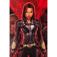 Black Widow Black Leather Jacket